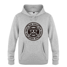 One Piece Luffy Head Hoodie Cotton Winter Teenages One Piece Logo Sweatershirt Pullover Hoody With Hood For Men Women