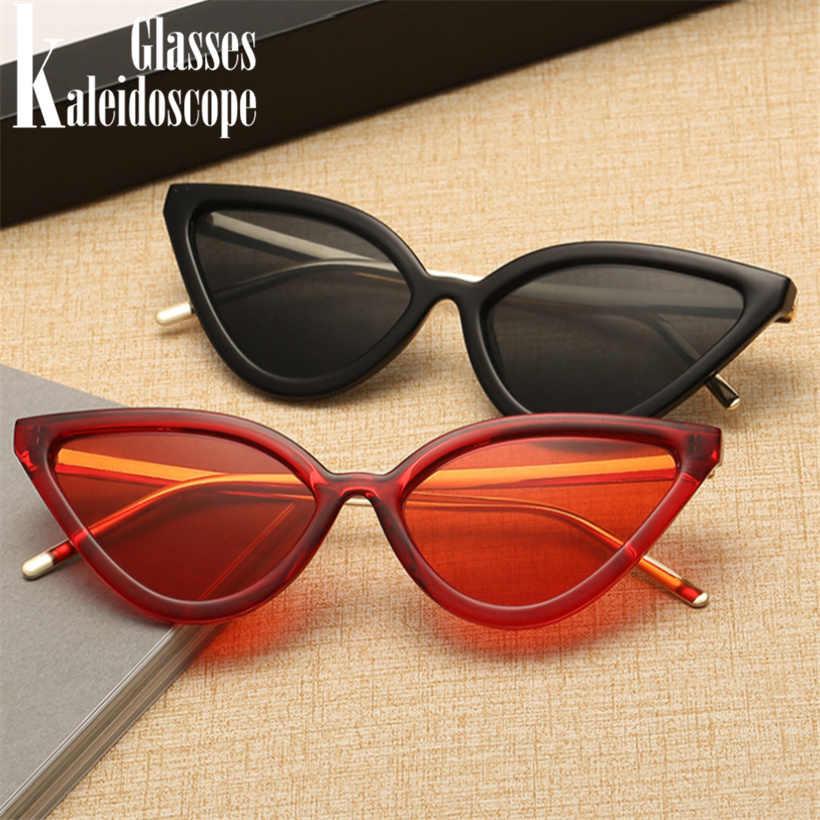 4cf054f36b ... Kaleidoscope Glasses Cat Eye Sunglasses Women Fashion Design Triangle Retro  Metal Frame Cateye Sun Glasses Red ...