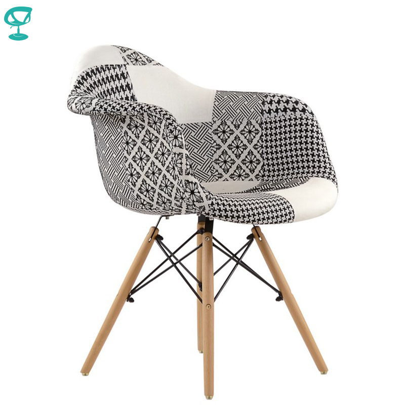 95233 Barneo N-14 Fabric Patchwork Kitchen Breakfast Interior Stool Bar Chair Kitchen Furniture Free Shipping In Russia