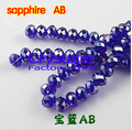5040 AAA Top Quality sapphire AB color  loose Crystal  Rondelle beads.Free Shipping! 2mm 3mm 4mm,6mm,8mm 10mm,12mm