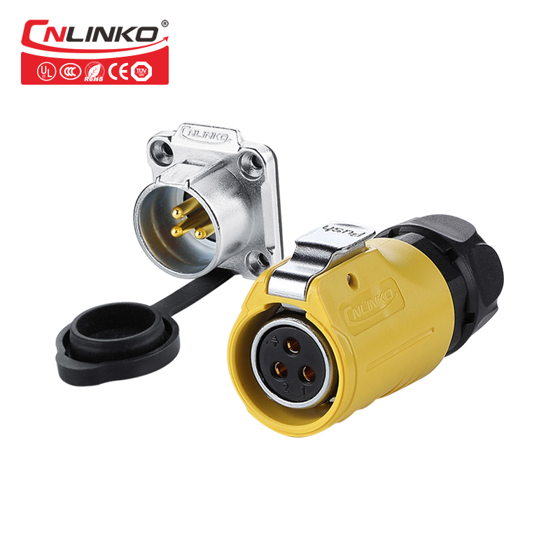 CNLINKO 3-Pin Battery Connectors Waterproof IP67 m20 Panel Cable to Cable Quick Plug Connector Electric Circular ConnectorCNLINKO 3-Pin Battery Connectors Waterproof IP67 m20 Panel Cable to Cable Quick Plug Connector Electric Circular Connector