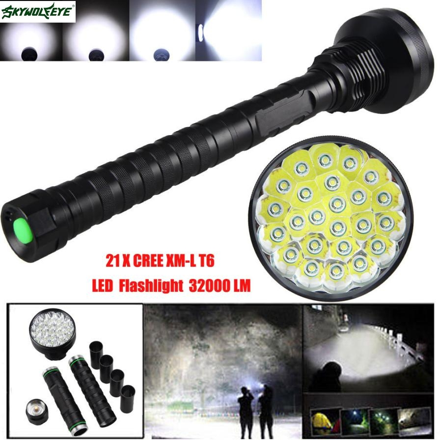 DC 12 Shining Hot Selling Drop Shipping 32000LM 24x XML T6 LED Flashlight 5 Modes Torch 26650/18650 Camping Lamp Light dc 22 shining hot selling drop shipping outdoor uf t20 cree infrared ir 850nm night vision zoom led flashlight lamp