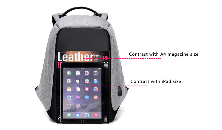 Third Generation USB Charge Anti Theft Backpack 15inch Laptop Backpacks Fashion Bags Bagpack Blue 15inch 11