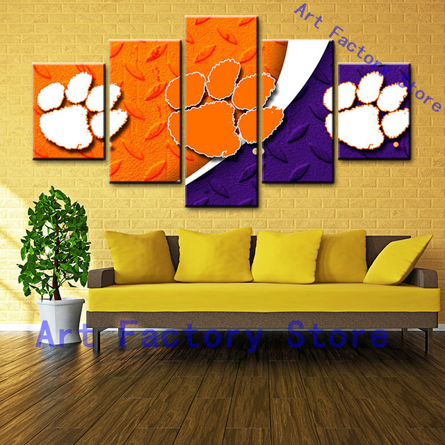 Posters Canvas Prints Painting 5 Panel Canvas Wall Art Puppy ...
