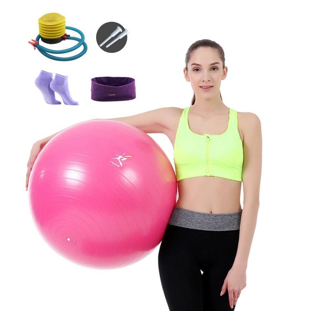 Yoga Ball 65cm Yoga Pilates Bodybuilding Home Fitness Yoga Core Ball PVC Anti-Burst Utility Balance Ball