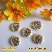 wholesale 2-Hole 15mm wooden Buttons For craft and Scrapbooking products sewing Accessory botao para artesanato 200pcs