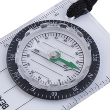 Mini Baseplate Compass Map Scale Ruler Outdoor Camping Hiking