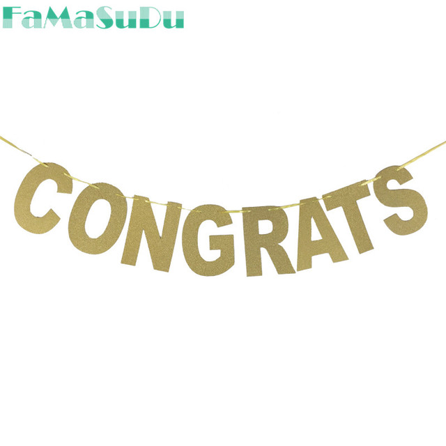 1 set congrats banners glitter letters paper festive party 1 set congrats banners glitter letters paper festive party supplies party decorations bunting birthday events thecheapjerseys Images