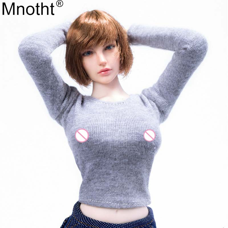 Obedient Mnotht 1/6 Doll Underwear Mm01 Long Sleeves Circular Collar Shirt Female Clothes Model Toy For 12in Soldier Action Figure M3n Extremely Efficient In Preserving Heat Toys & Hobbies