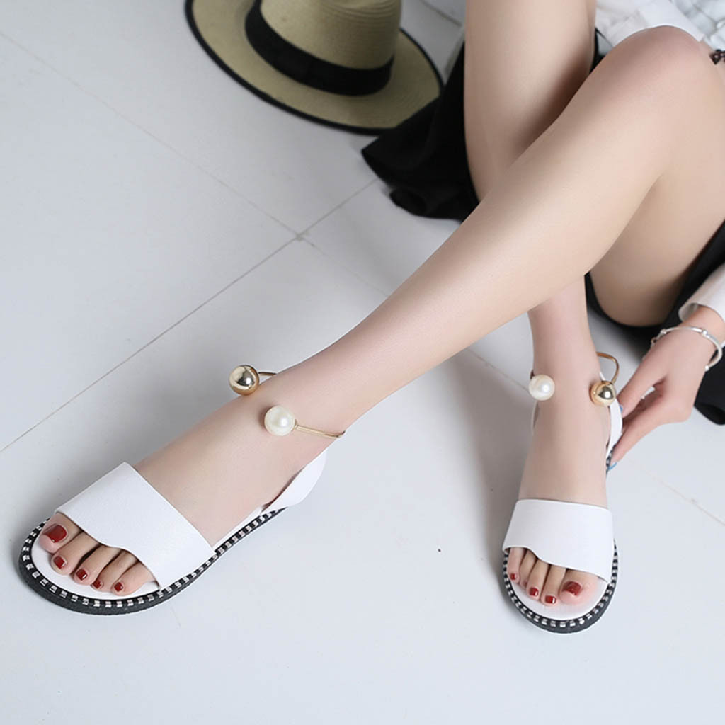 Flats Shoes,Star/_wuvi Women/'s Casual Flower Peep Toe Buckle Classic Ankle Strap Style Ballet Slip On Sandals Student Shoes