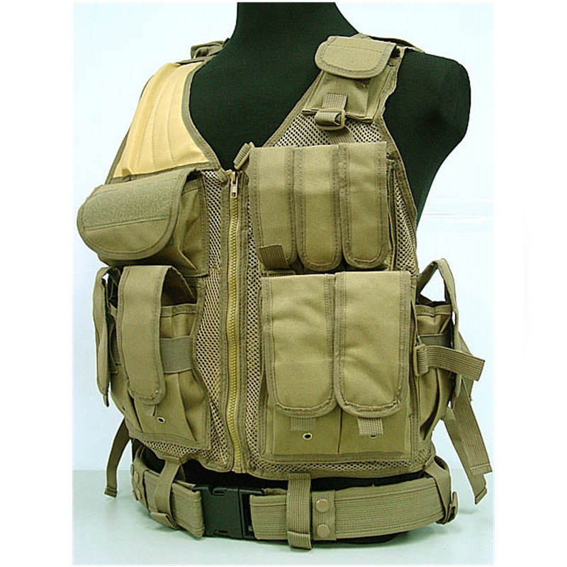 ФОТО High Quality Tactical Vest Combat Molle Assault Military Army Airsoft Tactical SWAT Vest W/ Gun Holster Fits Outdoor Hunting