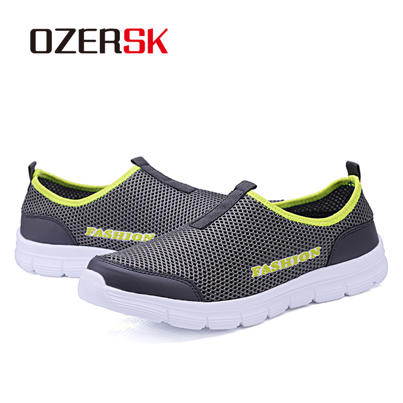 OZERSK Brand Breathable Men Running Shoes Men's Jogging Mesh Summer Mesh Sneaker Casual Slip-on Sandals Shoes Free Shipping 4