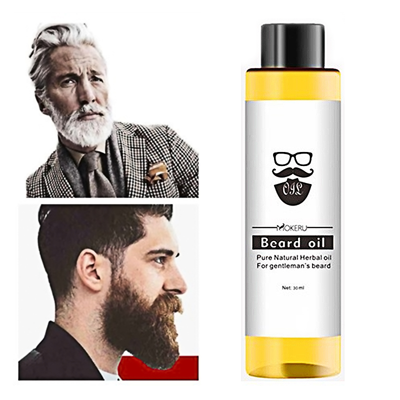2 Pcs/lot Natural Moisturizing Smoothing Beard Growth Products Organic Beard Oil For Men Beard Growth Serum Leave In Conditioner
