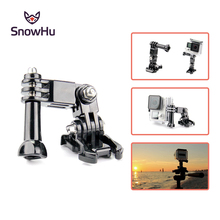 SnowHu for Three-way Adjustable Pivot Arms With Screw For Gopro Hero 7 6 5 4  Xiaomi Yi 4K SJ4000 Accessories GP15