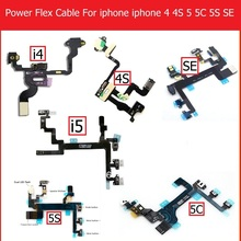 Genuine Mute&Volume&Power Flex Cable for iPhone 4 4S 5 5S 5C