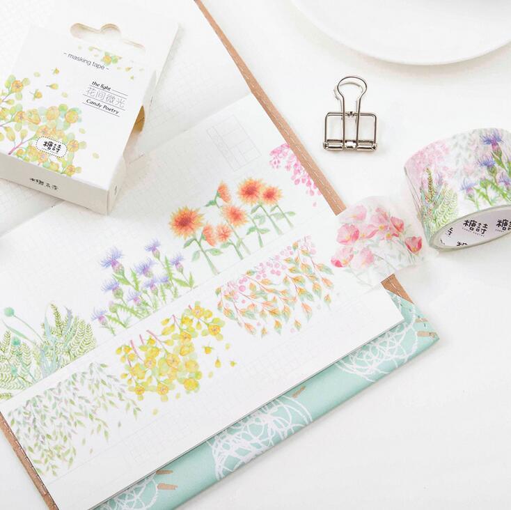 The Surprise Between Flowers Washi Tape DIY Scrapbooking Sticker Label Masking Tape School Office Supply