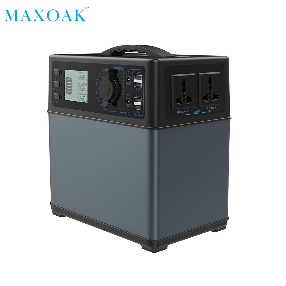 MAXOAK chargeur de banque d'énergie solaire 400Wh powerbank Source D'énergie solaire Générateur li-ion Alimentation pour le Camping D'urgence