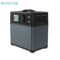 Maxoak Солнечный Мощность Bank зарядное устройство 400Wh Мощность Bank Солнечное Источники питания генератора литий ионный Питание для кемпинга ава