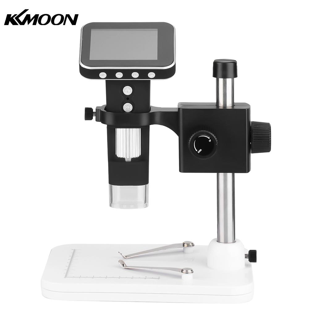 KKMOON 500X 2.5 Inch LCD Digital Wireless Handheld Microscope 8-LED Light Magnifying Glass Magnifier with Stand 5 0mp handheld lcd digital microscope 1000 times portable with measuring electronic magnifying glass