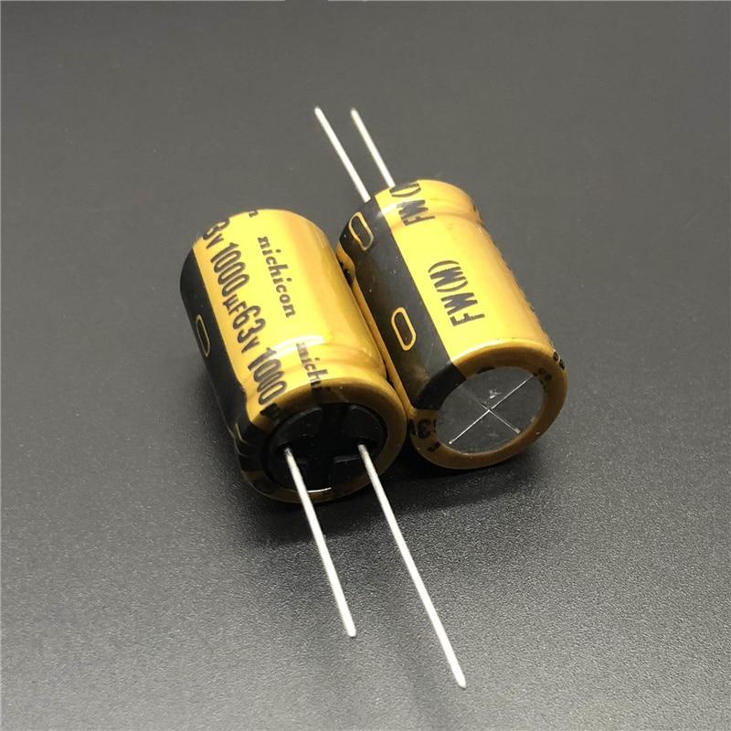 2pcs/10pcs 1000uF 63V NICHICON FW Series 16x25mm 63V1000uF HiFi Audio Capacitor