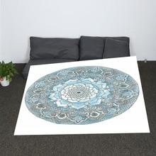купить Bohemian Hippie Mandala Women Printed Throw Blanket Round Boho Blanket Smock Beach Towel Gypsy Blanket дешево