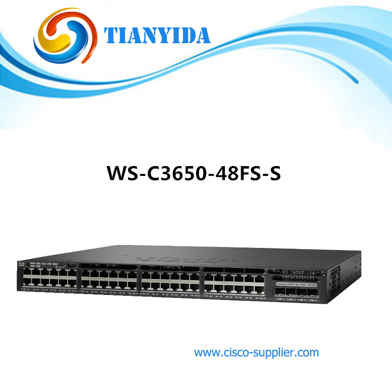 US $3120 0 |WS C3650 48FS S Catalyst 3650 48 RJ45 Port Full PoE Switch 4 x  1 Gigabit Uplink IP Base Switches-in Network Switches from Computer &