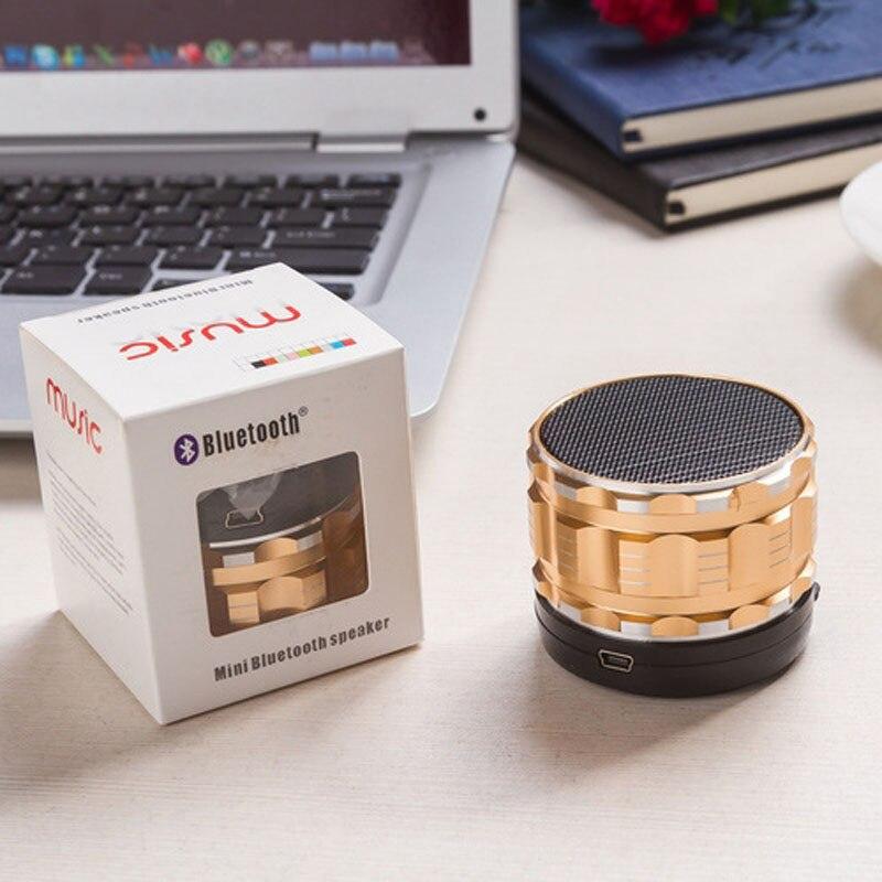 Лучшая Цена Портативный Мини Металла Стали Беспроводной Smart Hands Free Bluetooth-динамики