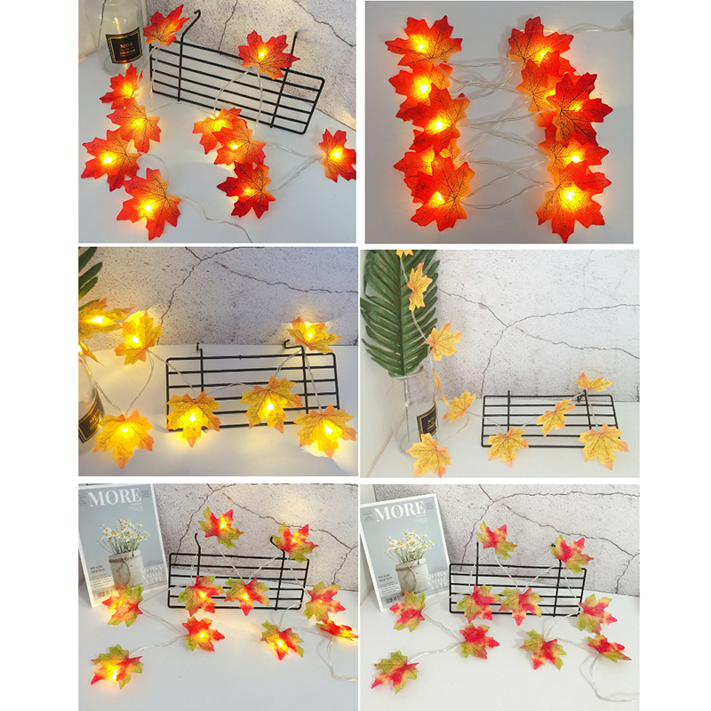 LED String Maple Leaves 3M Fairy Garland String Lights Battery Operated Helloween Garden Home Christmas Tree Decoration Lighting