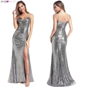 Image 3 - Robe De Soiree Longue Ever Pretty Cheap Little Mermaid Burgundy Red Sexy Evening Dresses Sequined Sparkle Plus Size Party Gowns