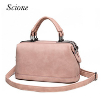 Newest Fashion Designer Leather Vintage Doctor Bag Shoulder Handbags Hot Women Messenger Small Tote Bag Bolsas
