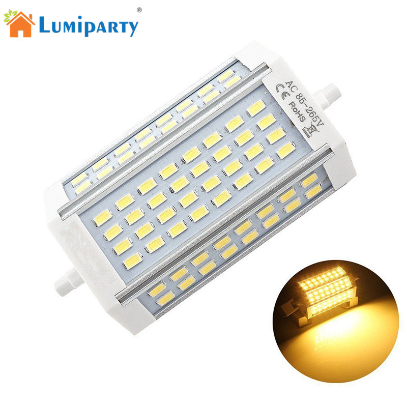 LumiParty R7S LED Light 30W  64Led Bulb Lamp SMD5730 118mm Spotlight Replace Halogen Double End Floodlight Lamp dimmable r7s 30w 118mm led bulb floodlight bulb r7s light j118 r7s lamp no fan no noise replace halogen lamp ac85 265v