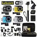 "Monopé + Bag + NOVO Estilo SJ6000 WIFI W9 2.0 ""LCD HD 1080 P Esporte Action camera Car Recorder DVR DV Vídeo como SJ4000 SJ5000 SJ6000"