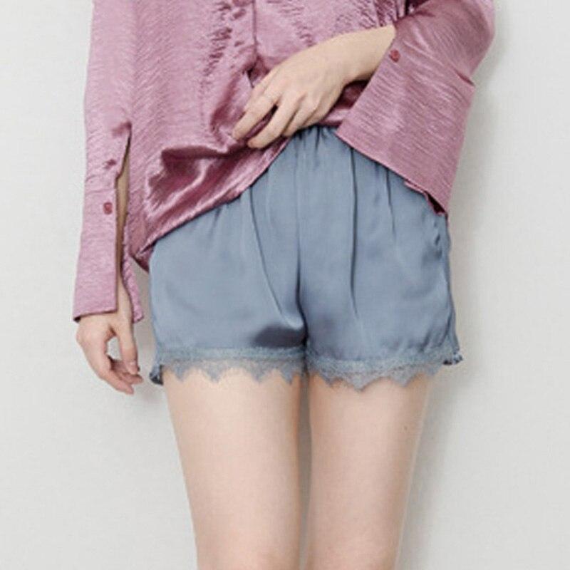 2018 Plus Size Satin Kitten Silky Elastic Waist Women Men Home Sleep Tracksuit Bottom Short Pants Pajama Nightwear Shorts 5