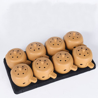 new 8pcs acupuncture massage moxa box with 100pcs moxa sticks and body/foot moxibustion massage paste