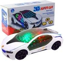 Новый 3D Мигает Электрический Автомобиль игрушки с Огнями ребенок подарок Модели автомобилей и Звук идет вокруг и изменения направления на контакт