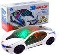 Nueva 3D regalo del niño del juguete Del Coche Eléctrico con Luces Intermitentes Modelos de coches y da vueltas y cambia las direcciones de Sonido en póngase en contacto con