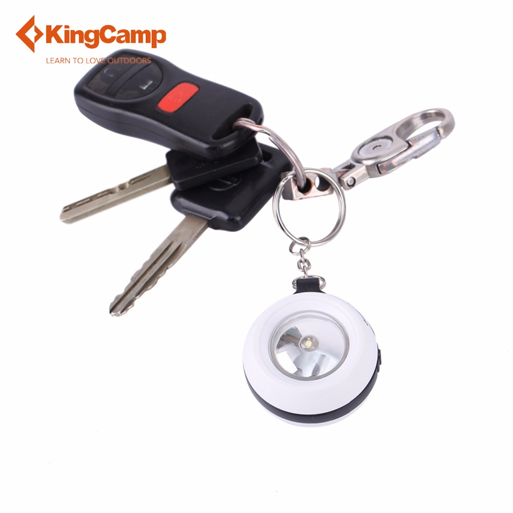 KingCamp Camping Light Hand Power Generation Outdoor Flashlight 1LED Mini Dynamo Keychain Torch Christmas Gift