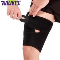 AOLIKES 1 шт. Спортивная поддержка бедра защита мышечная повязка от растяжений бандаж мусло колодки фитнес леггинсы нога компрессия Бодибилдин...