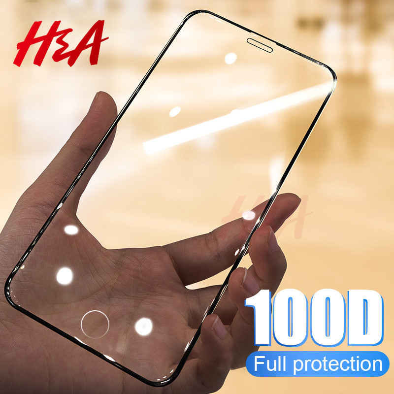 100D Curved Protective Glass On The For IPhone 11 Pro Max 6 6s 7 8 Plus Tempered Glass For IPhone X XS MAX XR Screen Protector