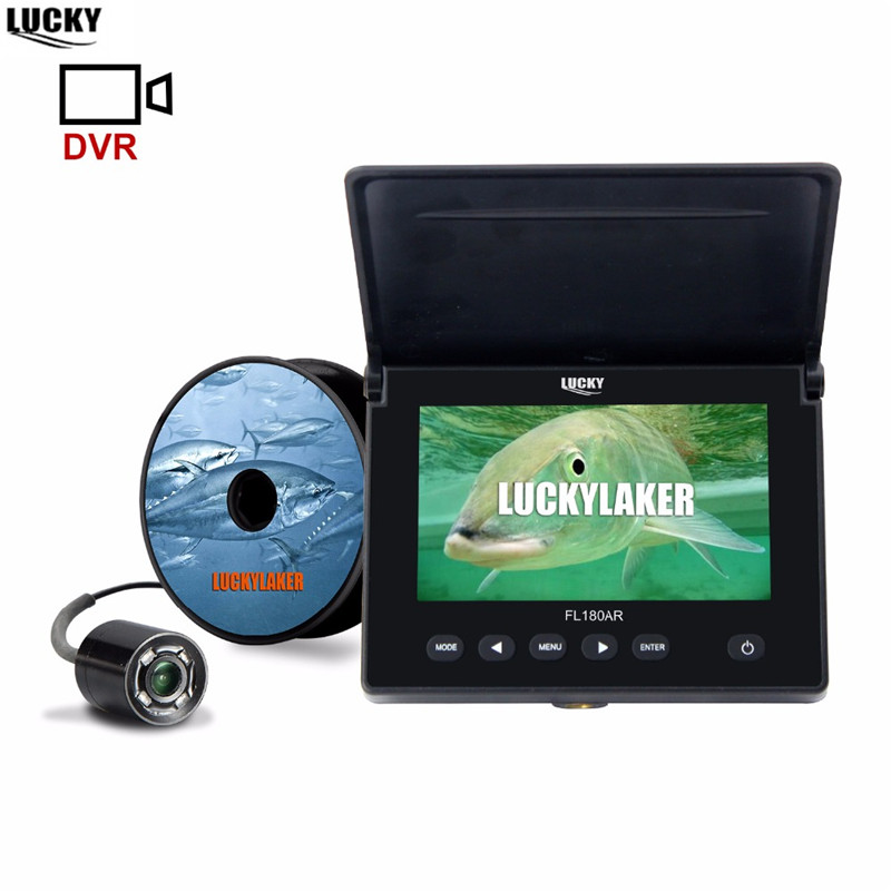 """LUCKY Original Underwater Fishing Camera 4.3"""" LCD Monitor 8GB DVR 4pcs Infrared Led Russian Fish Finder Fishing for Ice Fishing-in Fish Finders from Sports & Entertainment"""