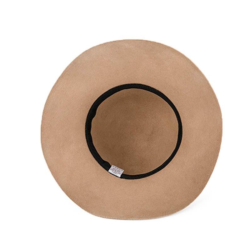 528420b05f7 FS 100% Australia Wool Felt Hat Vintage Fashion Wide Brim Hats For Elegant  lady Woman View larger