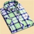 2017 Новая Мода печати с коротким рукавом рубашки Slim fit мужчины лацканы 10 видов различных цветов camisa социальной masculina