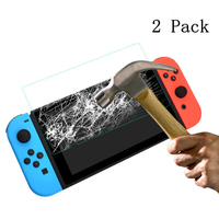 screen film HobbyLane 2 PCS Tempered Glass Screen Protector+ Carry Bag For Nintend Switch Protective Film Cover For N-Switch Accessories d15 (3)