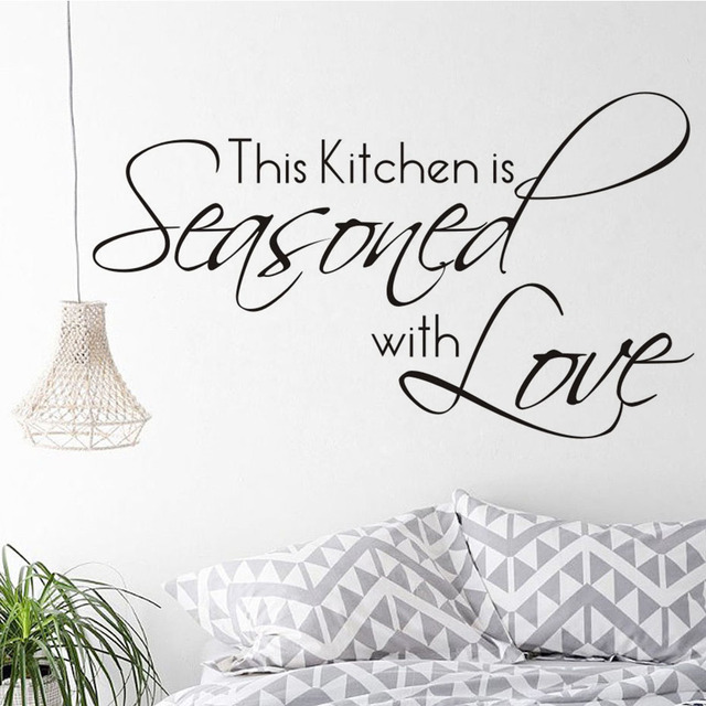 Ta Kuchnia Jest Przyprawione Z Miłość Cytaty Sztuki Naklejki ścienne