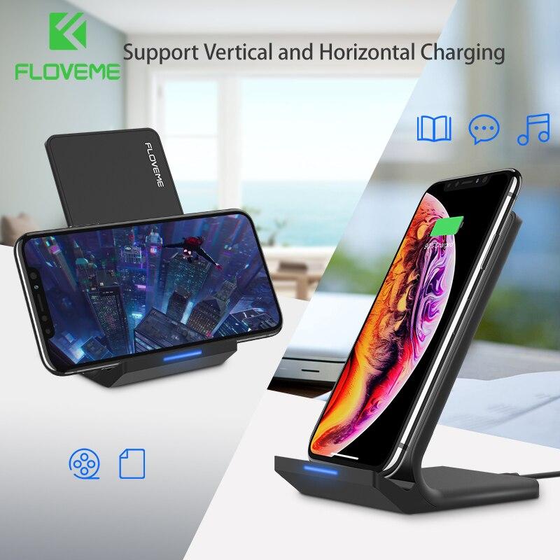 FLOVEME 5 V/2A Drahtlose Ladegerät Für Samsung Galaxy S8 S7 S10 Hinweis 8 9 Qi Wireless Charging Dock für iPhone X 8 XS MAX USB Ladegerät