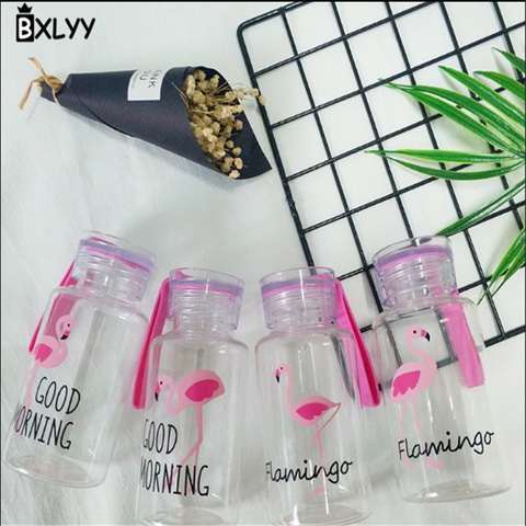 BXLYY Plastic Pink Flamingo Water Bottle 300ml Portable Sports Shaker Home Decor Accessories Bottle Gifts for The New Year.8z Lahore
