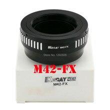Kecay Высокоточный M42-FX адаптер для объектива M42 с винтовым креплением для Fujifilm X-Pro1 FX XPro1-черный+ серебристый