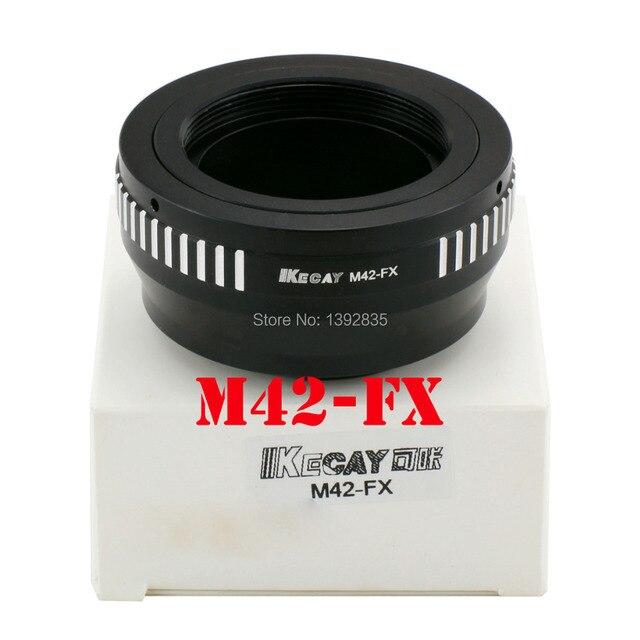 Kecay Adaptador de lente de M42 FX de alta precisión para lente de montaje de tornillo M42 para Fujifilm X Pro1 FX XPro1, color negro y plateado