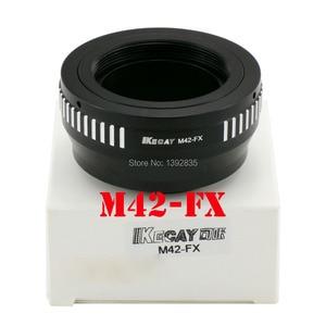 Image 1 - Kecay Hoge Precisie M42 FX Lens Adapter Voor M42 Schroef Mount Lens Voor Fujifilm X Pro1 Fx XPro1 Zwart + Sliver