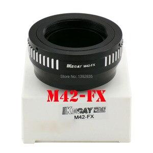 Image 1 - Kecay adaptateur dobjectif M42 FX haute précision pour objectif à monture à vis M42 pour Fujifilm X Pro1 FX XPro1 noir + argent